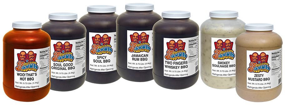 American Soul Brothers BBQ Sauces and Spreads - Food Service Jugs